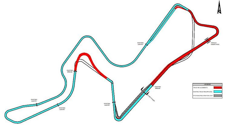 Kyalami Race Tracks - modifications